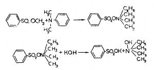 гидрат окиси триметилфениламмония, который в свою очередь получается по следующей схеме